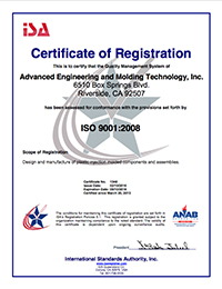 AEMT quality certificate of registration